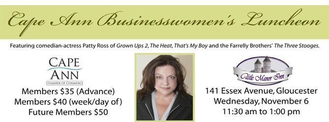 Businesswomen's Fall Lunch Featuring Comedian/actress Patty Ross November 6