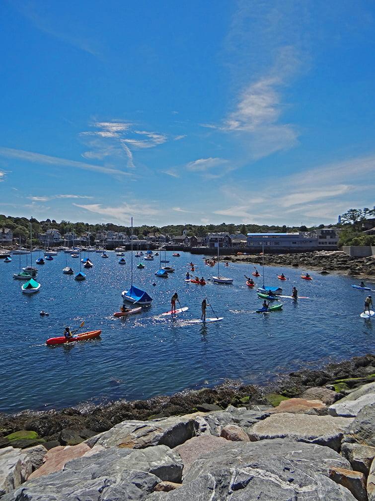 kayaking Rockport, MA