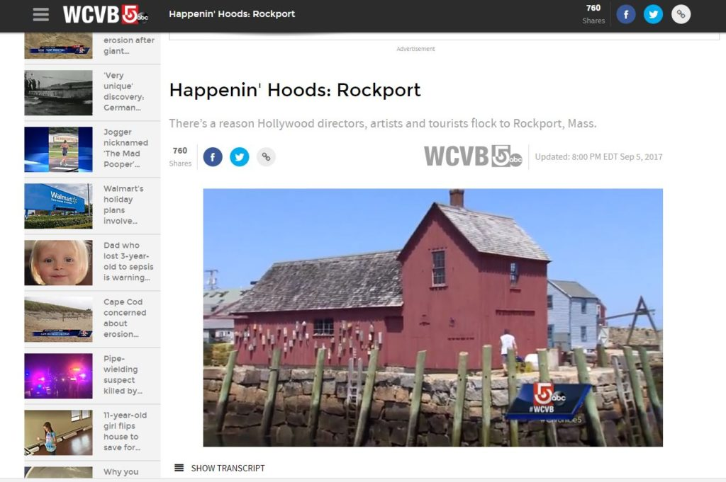 Rockport Featured on WCVB's Happenin' Hoods
