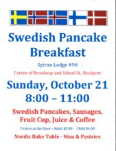 Swedish Pancake Breakfast
