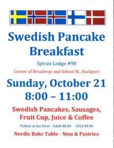 Swedish Pancake Breakfast